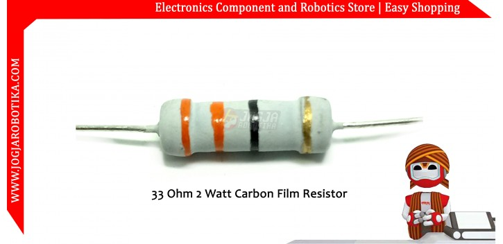 33 Ohm 2 Watt Carbon Film Resistor