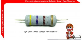 470 Ohm 2 Watt Carbon Film Resistor