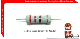 220 Ohm 2 Watt Carbon Film Resistor