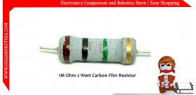 1M Ohm 2 Watt Carbon Film Resistor