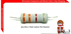 3K3 Ohm 2 Watt Carbon Film Resistor