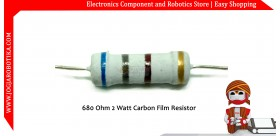 680 Ohm 2 Watt Carbon Film Resistor