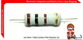 100 Ohm 1 Watt Carbon Film Resistor