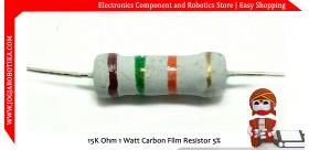 15K Ohm 1 Watt Carbon Film Resistor