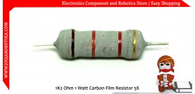 1K2 Ohm 1 Watt Carbon Film Resistor