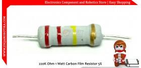 220K Ohm 1 Watt Carbon Film Resistor