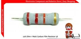 22K Ohm 1 Watt Carbon Film Resistor