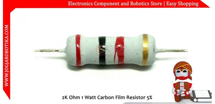 2K Ohm 1 Watt Carbon Film Resistor