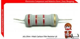 2K2 Ohm 1 Watt Carbon Film Resistor