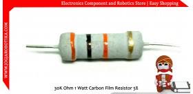 30K Ohm 1 Watt Carbon Film Resistor