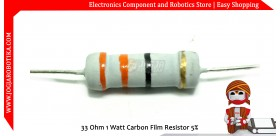 33 Ohm 1 Watt Carbon Film Resistor