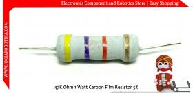 47K Ohm 1 Watt Carbon Film Resistor