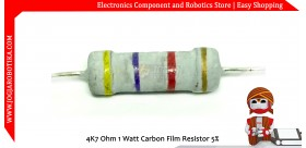 4K7 Ohm 1 Watt Carbon Film Resistor
