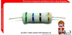 56 Ohm 1 Watt Carbon Film Resistor
