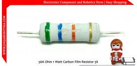 56K Ohm 1 Watt Carbon Film Resistor