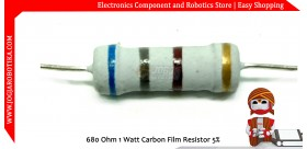 680 Ohm 1 Watt Carbon Film Resistor