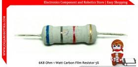 6K8 Ohm 1 Watt Carbon Film Resistor