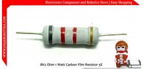 8K2 Ohm 1 Watt Carbon Film Resistor