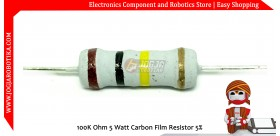 100K Ohm 5 Watt Carbon Film Resistor