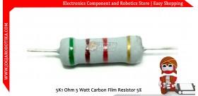 5K1 Ohm 5 Watt Carbon Film Resistor