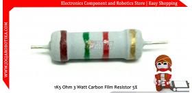 1K5 Ohm 3 Watt Carbon Film Resistor