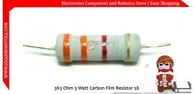 3K3 Ohm 3 Watt Carbon Film Resistor
