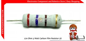 270 Ohm 3 Watt Carbon Film Resistor