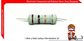 1 Ohm 3 Watt Carbon Film Resistor