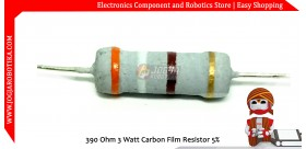 390 Ohm 3 Watt Carbon Film Resistor
