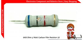 6K8 Ohm 3 Watt Carbon Film Resistor