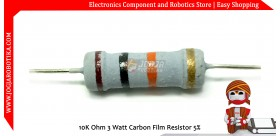 10K Ohm 3 Watt Carbon Film Resistor