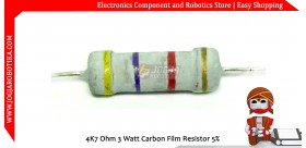 4K7 Ohm 3 Watt Carbon Film Resistor
