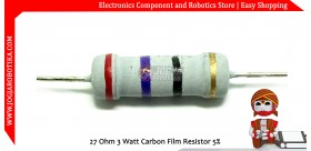 27 Ohm 3 Watt Carbon Film Resistor