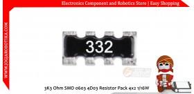 3K3 Ohm SMD 0603 4D03 Resistor Pack 4x2 1/16W