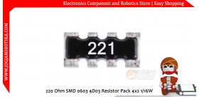 220 Ohm SMD 0603 4D03 Resistor Pack 4x2 1/16W