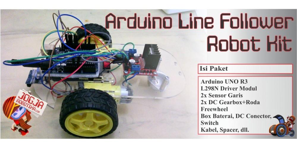 Jual arduino line follower robot kit
