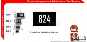 820K Ohm SMD0805 Resistor