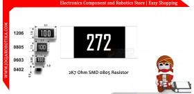 2K7 Ohm SMD0805 Resistor