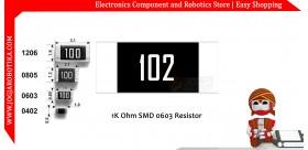 1K Ohm SMD 0603 Resistor