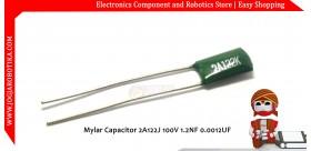Mylar Capacitor 2A122J 100V 1.2NF 0.0012UF