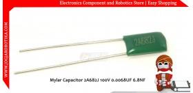 Mylar Capacitor 2A682J 100V 0.0068UF 6.8NF