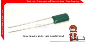 Mylar Capacitor 2A182J 100V 0.0018UF 1.8NF