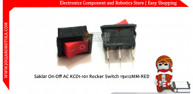 Saklar On-Off AC KCD1-101 Rocker Switch 19x12MM-RED