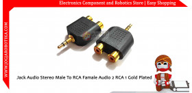 Jack Audio Stereo Male To RCA Famale Audio 2 RCA 1 Gold Plated