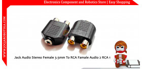 Jack Audio Stereo Female 3.5mm To RCA Famale Audio 2 RCA 1