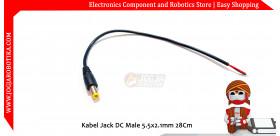 Kabel Jack DC Male 5.5x2.1mm 28Cm
