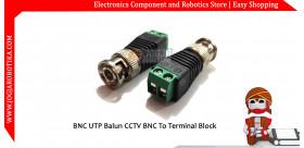 BNC UTP Balun CCTV BNC To Terminal Block