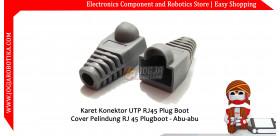 Karet Konektor UTP RJ45 Plug Boot Cover Pelindung RJ 45 Plugboot - Abu-abu
