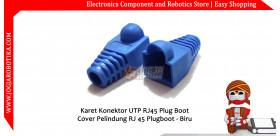 Karet Konektor UTP RJ45 Plug Boot Cover Pelindung RJ 45 Plugboot - Biru