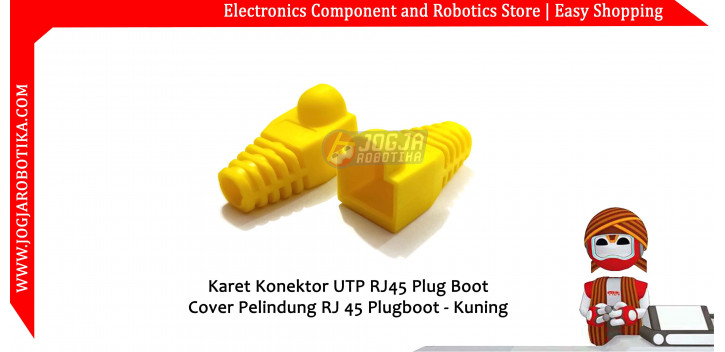 Karet Konektor UTP RJ45 Plug Boot Cover Pelindung RJ 45 Plugboot - Kuning
